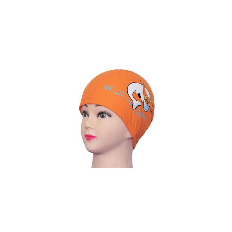 乐浪卡通儿童泳帽 女 长发 防水护耳男童女童幼儿宝宝游泳装备