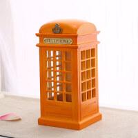 英国电话亭储蓄罐 英伦创意办公室摆件家居装饰品结婚礼物存钱罐