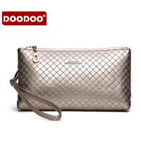 【支持礼品卡】DOODOO 2017新款时尚包包女包欧美菱格简约单肩斜跨手包女包手拿包 D5121