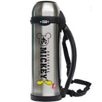 不锈钢真空旅行大容量保温杯户外运动手拎带杯盖1100ML
