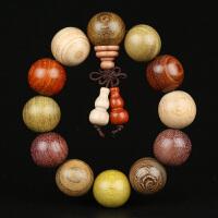 缘饰传说 小叶紫檀金丝檀等多材质佛珠手串15mm 木质手链念珠文玩