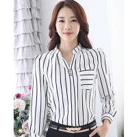 新款时尚休闲女装上衣韩版衬衫打底衫潮长袖女雪纺衫