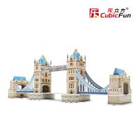 乐立方益智创意儿童玩具立体拼图 3D英国伦敦双子桥纸模模型C702h