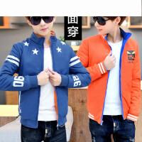 双面穿棉服青少年男外套韩版学生立领男士棉衣潮男装