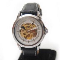 镂空透明男表 时尚男士商务复古皮带全自动机械手表