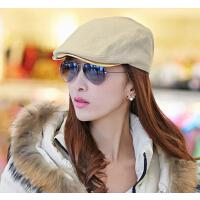 春秋时尚贝雷帽   帽子女韩版潮   个性女士英伦百搭鸭舌帽