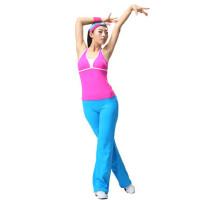新款广场舞服装健身操服 女士时尚运动套装健美表演服
