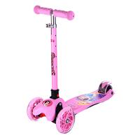 迪士尼儿童滑板车5三轮6四轮4踏板车2-3-10岁宝宝童车小孩摇摆车 SD13011-P粉色公主 当当自营