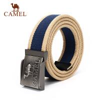 camel骆驼户外腰带 便捷扣式 男女通用条纹编织腰带