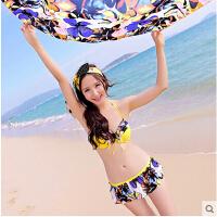 时尚性感女士泳衣 三件套比基尼 女小胸聚拢分体性感披纱韩国