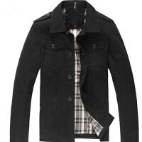 男士新款韩版时尚休闲百搭服饰户外翻领外套 夹克