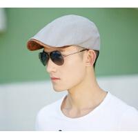 时尚男士鸭舌帽  帽子男  韩版潮户外防晒  女英伦贝雷帽