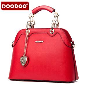 DOODOO 2017新款包包女包欧美风OL定型包时尚女单肩包女手拎包斜跨女士包包 D5027 【支持礼品卡】