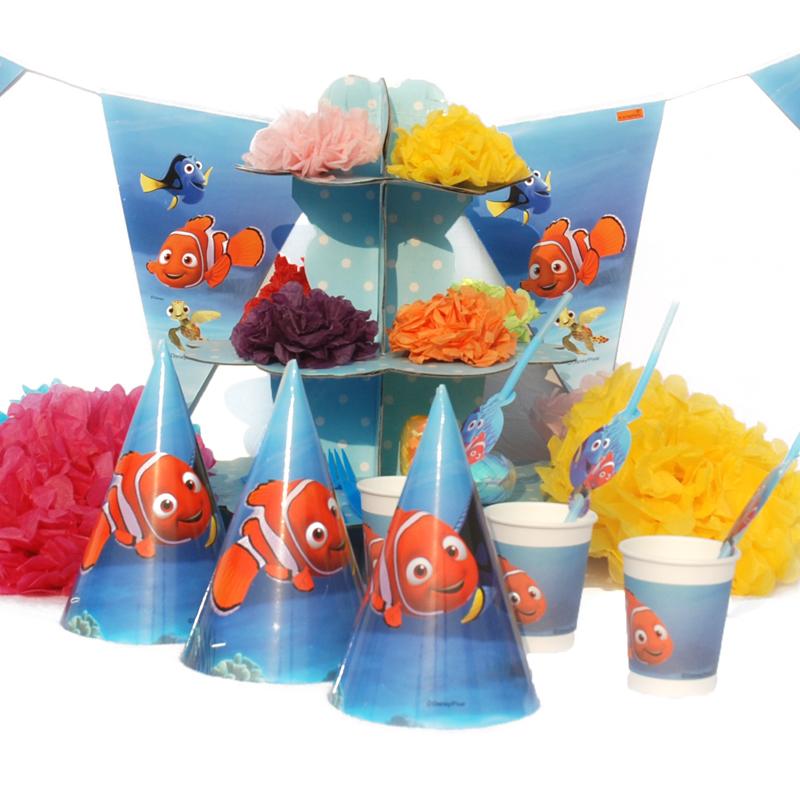 儿童生日派对聚会装饰布置用品道具气球海底总动员nemo小丑鱼主题_6人