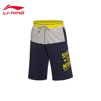 李宁篮球系列舒适男装平口运动短裤卫裤AKSK073