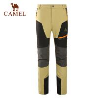 camel骆驼户外男款软壳裤 秋冬新款防风保暖 男裤