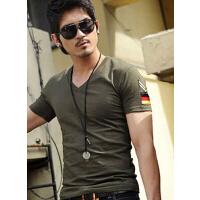新款韩版时尚休闲服饰户外 男士军迷韩版修身短袖T恤