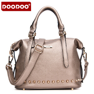 DOODOO 2017新款时尚钮钉女包手包女款手提单肩斜跨女士包包 D5101 【支持礼品卡】