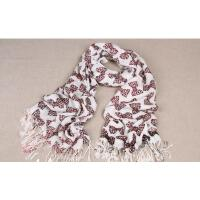 新款 可爱蝴蝶结 长款围巾披肩两用 韩国 女士保暖围巾