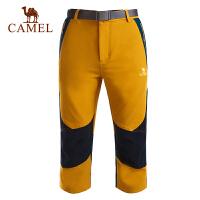 camel骆驼户外男款速干七分裤 春季新款 透气快干短裤
