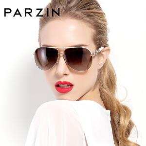 帕森新款优雅水钻偏光太阳镜女士时尚驾驶墨镜9613