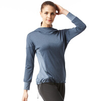 时尚长袖T恤新款跑步服百搭户外女运动带帽瑜伽服上衣