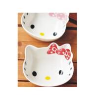 日照鑫 凯蒂猫 hello kitty 陶瓷碗 米饭碗 日式和风餐具 创意猫头饭碗(一个装)