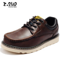Z.Suo/走索男鞋工装鞋男士休闲皮鞋大码低帮板鞋韩版大头鞋男潮ZS026