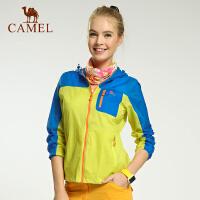 camel骆驼户外女款皮肤风衣 春夏新款透气野营皮肤衣