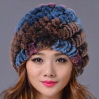 皮草帽子保暖加厚护耳獭兔毛帽子老太太妈妈帽兔毛包头帽子