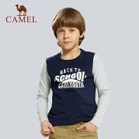 camel骆驼户外童卫衣 春新款青少儿童 圆领长袖卫衣