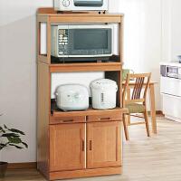 家逸 实木家具餐边柜 蔬菜储藏柜电器柜厨房柜 蔬菜柜碗筷柜餐柜柜子