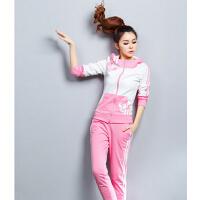 运动套装女 舒适新款棉衣运动套加厚上衣 韩系卫衣修身显瘦