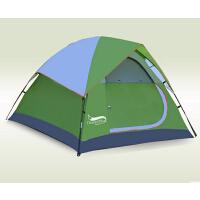 户外便携露营野营套装便携多人速开双层野外防雨暴雨帐篷