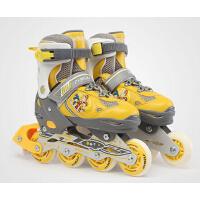 男女专业成人溜冰鞋全套装  时尚休闲运动  闪光滑轮鞋   儿童初学可调节直排轮旱冰鞋