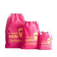 儿童束口袋 家居旅行储物袋束口袋套装多彩收纳包数码包