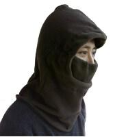 舒适围脖面罩百搭防风保暖户外休闲帽子加厚抓绒帽蒙面帽子