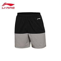 李宁男子跑步系列速干平口运动短裤AKSL033