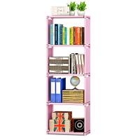 蜗家自由组合柜子 层架 简易安装置物架 收纳架可擦洗儿童储物柜书架书柜sj05