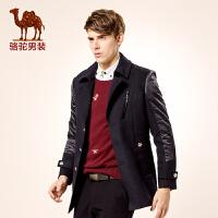 骆驼男装 新款秋季西装领单排扣青春活力长袖外套棉服 男