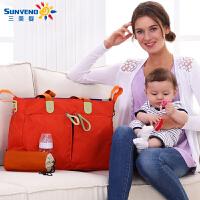 三美婴妈咪包多功能大容量斜跨待产包孕妇包外出包妈妈包母婴包