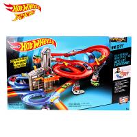 美泰风火轮赛道男孩玩具风火轮电动轨道车都市汽车广场CDR08