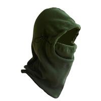 加厚抓绒帽蒙面帽子防风保暖 帽子骑行头套围脖面罩