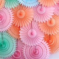 孩派 镂空雪花纸扇 派对用品 婚礼家居婚房 装饰布置拉花40cm