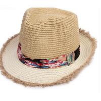 儿童草帽子男遮阳帽女韩版潮礼帽沙滩太阳帽凉帽