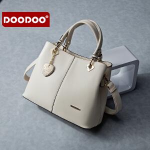 【支持礼品卡】DOODOO 2017新款包包女包手包欧美风OL包时尚休闲百搭单肩手拎斜跨女士包包 D5028