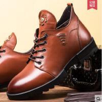 古奇天伦 新款男士棉鞋高帮棉靴头层牛皮棉靴英伦范GH6021