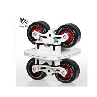 狼博八代弹簧减震漂移板 大板 分体滑板轮滑 直排轮滑板 公路板