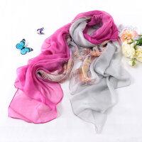 韩版围巾 蚕丝方巾真丝丝巾秋冬女士 真丝围巾丝巾