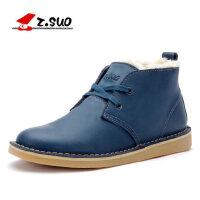 走索英伦马丁靴加绒保暖高帮男鞋男士休闲短靴大码工装靴男潮靴子ZS061M